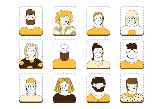 Gruppe von personen avatarsammlung