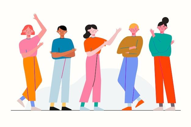 Gruppe von personen illustration