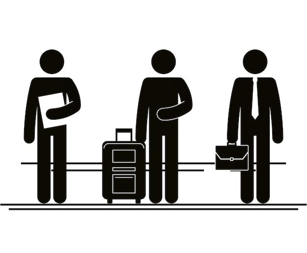 Gruppe von personen im stadtvektor-illustrationsdesign