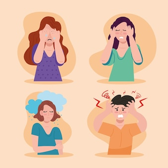Gruppe von personen mit bipolarer störung