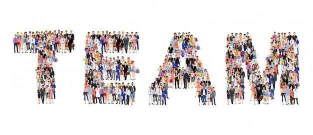 Gruppe von personenen-teambeschriftung