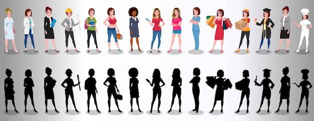 Gruppe weiblicher beruf