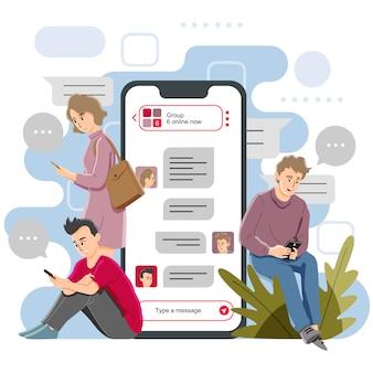 Gruppen-chat-nachrichten
