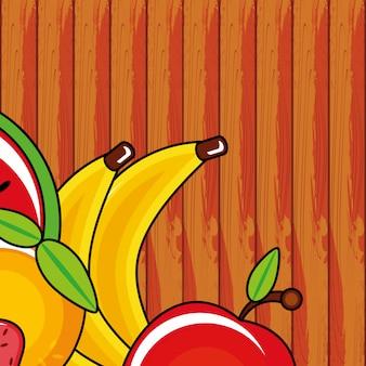Gruppenikonen der frischen früchte
