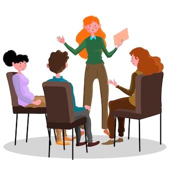 Gruppentherapie dargestellt