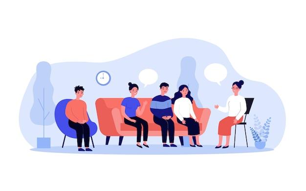 Gruppentherapie-gespräch