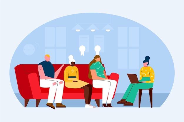 Gruppentherapie illustration