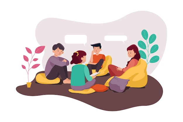 Gruppentherapie illustration