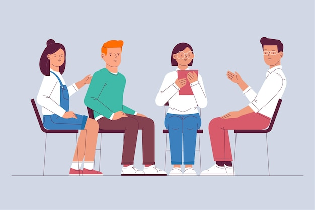 Gruppentherapie-illustrationskonzept