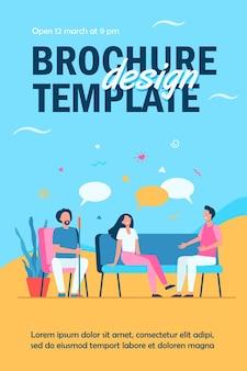 Gruppentherapie-konzept flyer vorlage
