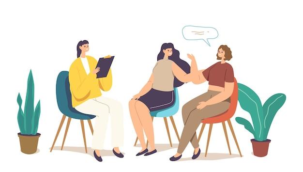 Gruppentherapie, psychotherapeutisches treffen, psychologische frauenhilfe