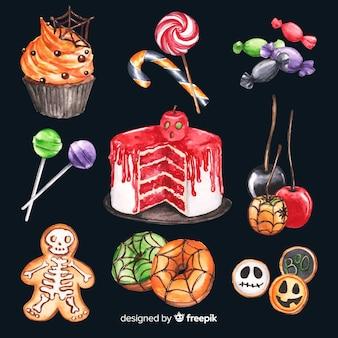 Gruselige auswahl an süßigkeiten für halloween
