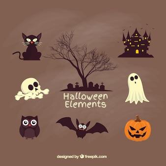 Gruselige halloween-elemente
