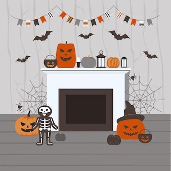 Gruselige halloween-heimdekorationen