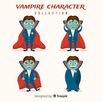 Gruselige halloween vampir charakter sammlung