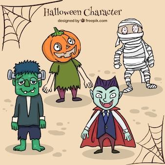 Gruselige halloween-zeichen