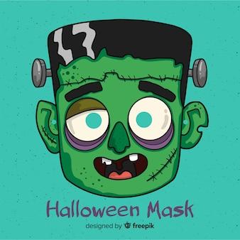 Gruselige hand gezeichnete halloween-maske