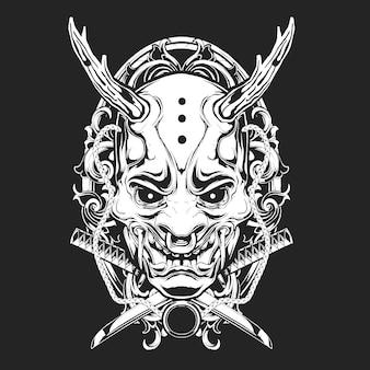 Gruselige maske zier