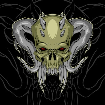 Gruseliger dämonenschädel