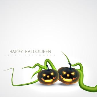 Gruseliger entwurf des halloween-kürbises
