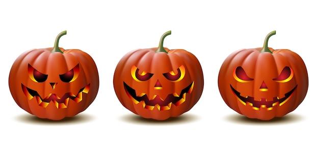 Gruseliger halloween-kürbis von jack o lantern