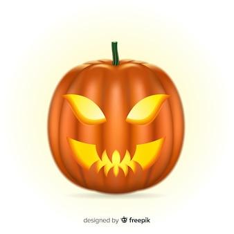 Gruseliger halloween-kürbis