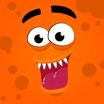Gruseliger monstermund mit zähnen und zunge