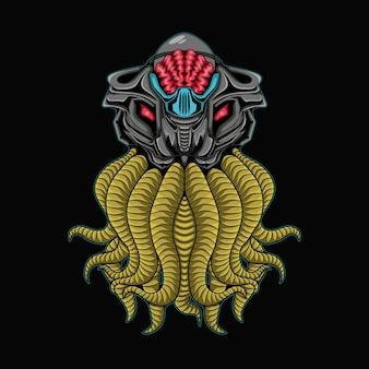 Gruseliger oktopus mecha