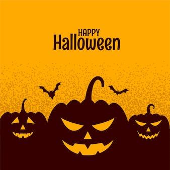 Gruseliges cark des halloween-festivals mit kürbis und fledermaus