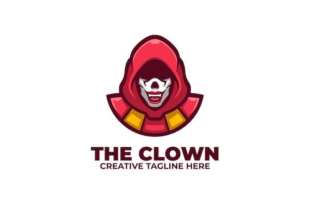 Gruseliges clown-maskottchen-logo