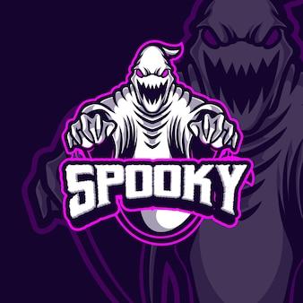 Gruseliges maskottchen-esport-logo-design