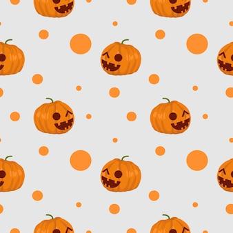 Gruseliges nahtloses muster kürbis- und netzspinne halloween