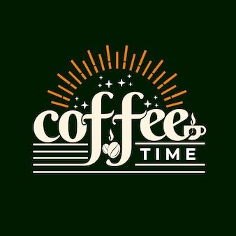 Gruß von kaffeezeit-schriftzug-design