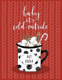 Gruß weihnachtskarte mit kakao.