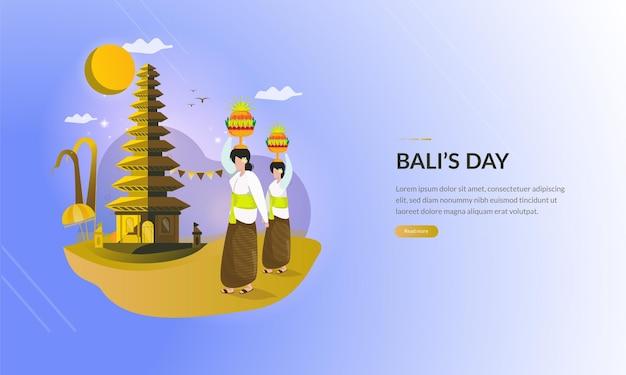 Grußkarte der balinesischen religiösen tradition