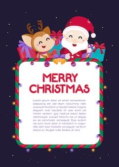 Grußkarte der frohen weihnachten mit weihnachtsverzierung.