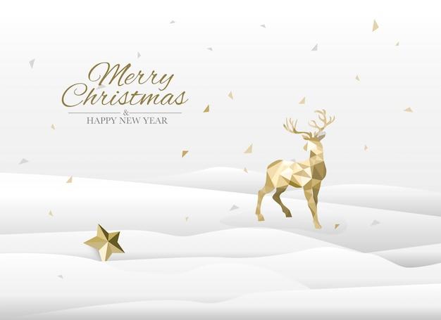 Grußkarte der frohen weihnachten, schneien und landschaftskonzept.