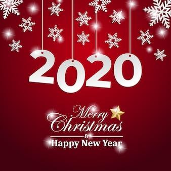 Grußkarte der frohen weihnachten und des guten rutsch ins neue jahr 2020