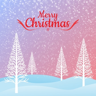 Grußkarte der frohen weihnachten und weihnachtsbaum.