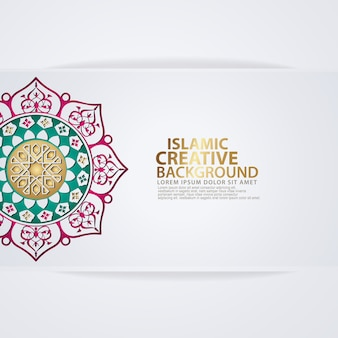Grußkarte des arabischen arabeskenentwurfs für für große islamische ereignisse