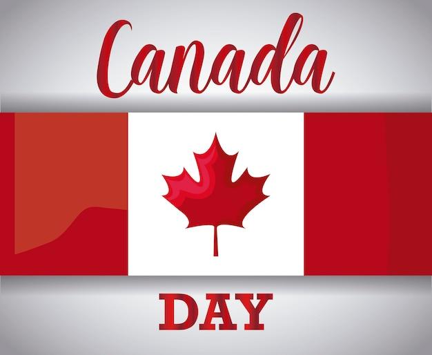 Grußkarte des glücklichen kanada-tages mit flagge