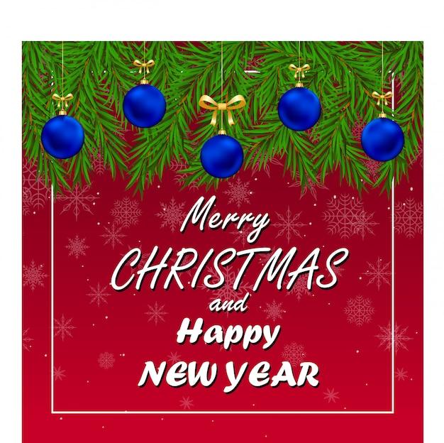 Grußkarte für neujahr und weihnachten