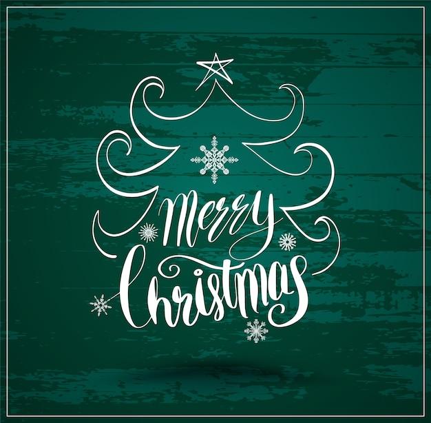 Grußkarte für weihnachten und happy new year schriftzug
