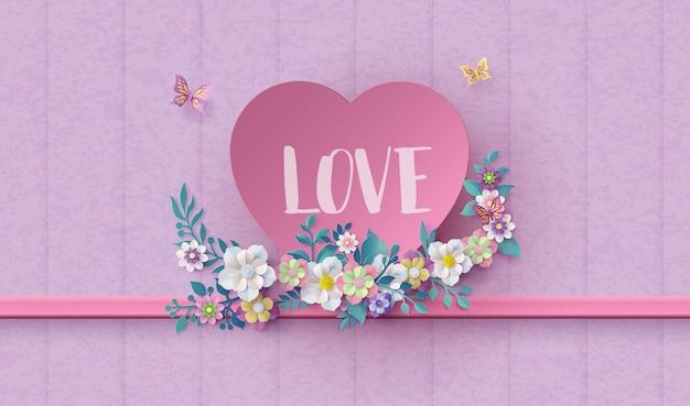 Grußkarte liebe und valentinstag