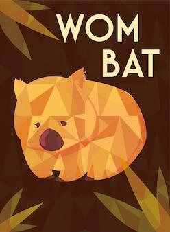 Grußkarte mit australischem wombat