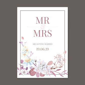 Grußkarte mit floralen thema