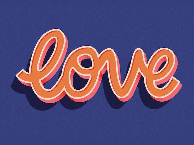 Grußkarte mit handschriftentwurf des glücklichen valentinstags. bunte hand gezeichnete illustration mit typografie.