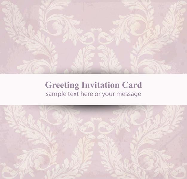 Grußkarte mit klassischer luxusverzierung. vektor-dekor-hintergründe