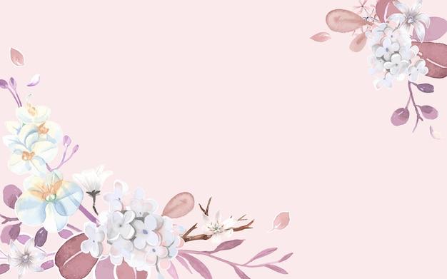 Grußkarte mit rosa und blumenthema