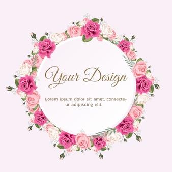 Grußkarte mit rose kann als einladungskarte für hochzeit, geburtstag und andere feiertage verwendet werden.